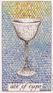 Lá Ace of Cups - Wild Unknown Tarot 1