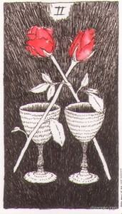 Lá Two of Cups - Wild Unknown Tarot 1