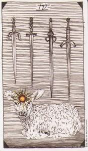 Lá Four of Swords - Wild Unknown Tarot 2