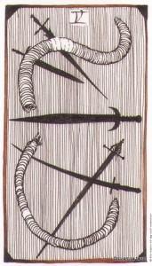Lá Five of Swords - Wild Unknown Tarot 1