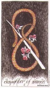 Lá Daughter of Wands - Wild Unknown Tarot 1