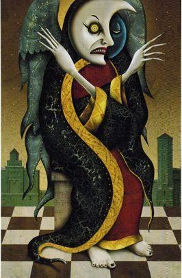 Lá II. The High Priestess - Deviant Moon Tarot 1