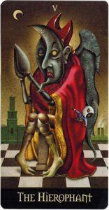 Lá V. The Hierophant - Deviant Moon Tarot 2