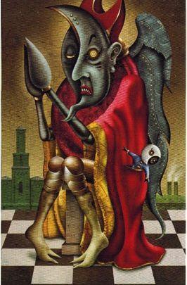 Lá V. The Hierophant - Deviant Moon Tarot 1