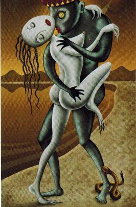 Lá VI. The Lovers - Deviant Moon Tarot 1
