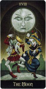 Lá XVIII. The Moon - Deviant Moon Tarot 2