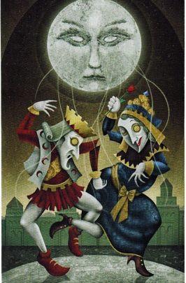 Lá XVIII. The Moon - Deviant Moon Tarot 1