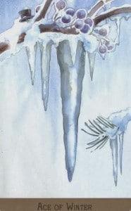 Hình Ảnh Lá Ace of Winter - Victorian Fairy Tarot Kênh Kiến Thức Và Tri Thức