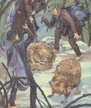 Lá Five of Winter - Victorian Fairy Tarot 9