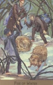 Hình Ảnh Lá Five of Winter - Victorian Fairy Tarot Kênh Kiến Thức Và Tri Thức