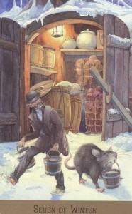 Hình Ảnh Lá Seven of Winter - Victorian Fairy Tarot Kênh Kiến Thức Và Tri Thức