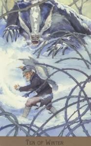 Hình Ảnh Lá Ten of Winter - Victorian Fairy Tarot Kênh Kiến Thức Và Tri Thức