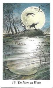 Lá 18. The Moon on Water - Wildwood Tarot 1