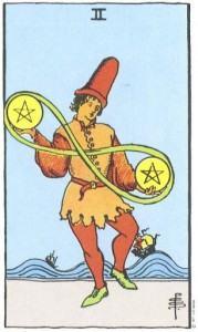 Hình Ảnh Ý Nghĩa Lá Bài 2 of Pentacles Trong Tarot Kênh Kiến Thức Và Tri Thức
