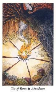 Ý Nghĩa Lá Six of Bows Bộ BàiWildwood Tarot 1