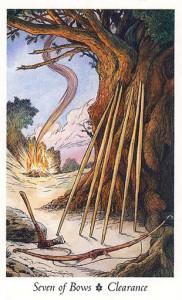 Ý Nghĩa Lá Seven of Bows Bộ BàiWildwood Tarot 1