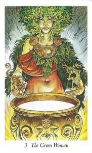 Lá 3. The Green Woman - Wildwood Tarot 1