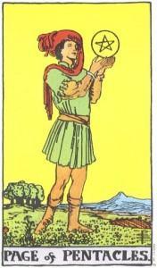 Hình Ảnh Ý Nghĩa Lá Bài Page of Pentacles Trong Tarot Kênh Kiến Thức Và Tri Thức