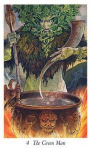 Lá 4. The Green Man - Wildwood Tarot 1
