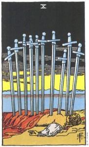 Hình Ảnh Ý Nghĩa Lá Bài 10 of Swords Trong Tarot Kênh Kiến Thức Và Tri Thức