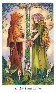 Lá 6. The Forest Lovers - Wildwood Tarot 1
