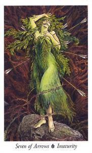 Lá Seven of Arrows - Wildwood Tarot 1