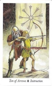 Lá Ten of Arrows - Wildwood Tarot 1