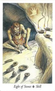 Lá Eight of Stones - Wildwood Tarot 1
