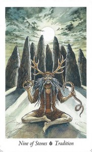 Lá Nine of Stones - Wildwood Tarot 1