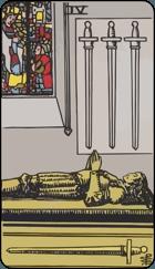 Ý Nghĩa Lá Bài 4 of Swords Trong Tarot 1