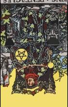 Hình Ảnh Diễn Giải Ngược của Lá Bài King of Pentacles Kênh Kiến Thức Và Tri Thức