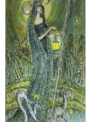 Lá IX. The Hermit - Paulina Tarot 1