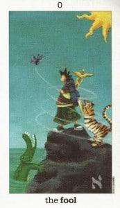 Lá 0. The Fool - Sun and Moon Tarot 1
