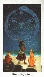 Lá I. The Magician - Sun and Moon Tarot 1