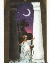 Lá II. The High Priestess - Sun and Moon Tarot 4