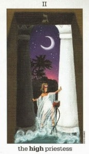 Lá II. The High Priestess - Sun and Moon Tarot 1
