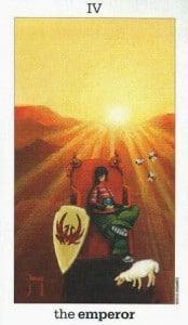 Lá IV. The Emperor - Sun and Moon Tarot 1