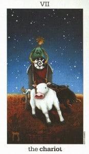 Lá VII. The Chariot - Sun and Moon Tarot 1
