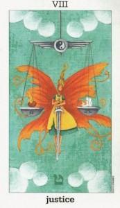 Lá VIII. Justice - Sun and Moon Tarot 1
