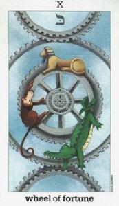 Lá X. Wheel of Fortune - Sun and Moon Tarot 1