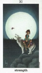 Lá XI. Strength - Sun and Moon Tarot 1