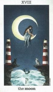 Lá XVIII. The Moon - Sun and Moon Tarot 1
