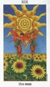 Lá XIX. The Sun - Sun and Moon Tarot 1