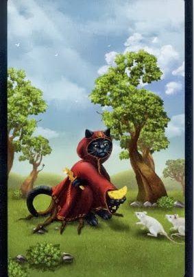 Lá V. The Hierophant - Black Cats Tarot 1