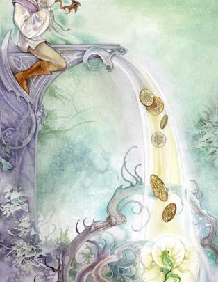 Lá Six of Pentacles - Shadowscapes Tarot 1