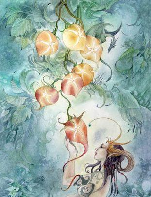 Lá Seven of Pentacles - Shadowscapes Tarot 1