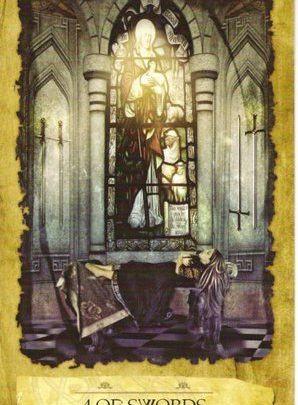 Lá 4 of Swords - Mystic Dreamer Tarot 1