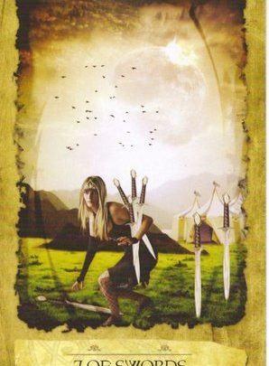 Lá 7 of Swords - Mystic Dreamer Tarot 1