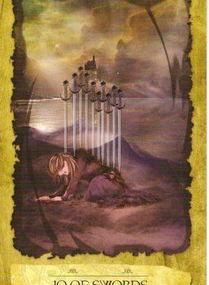 Lá 10 of Swords - Mystic Dreamer Tarot 1