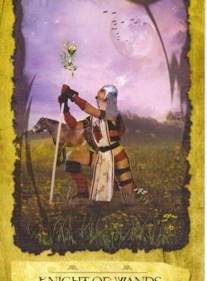 Lá Knight of Wands - Mystic Dreamer Tarot 1
